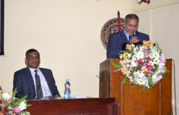 SLVC President addressing the gathering